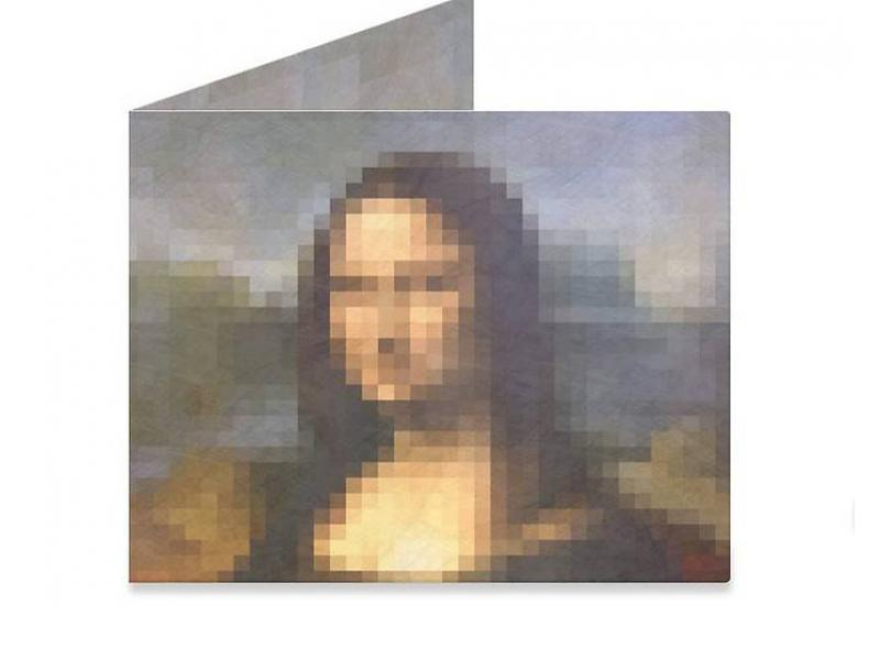 Mighty Wallet Mona & Lisa Pixels