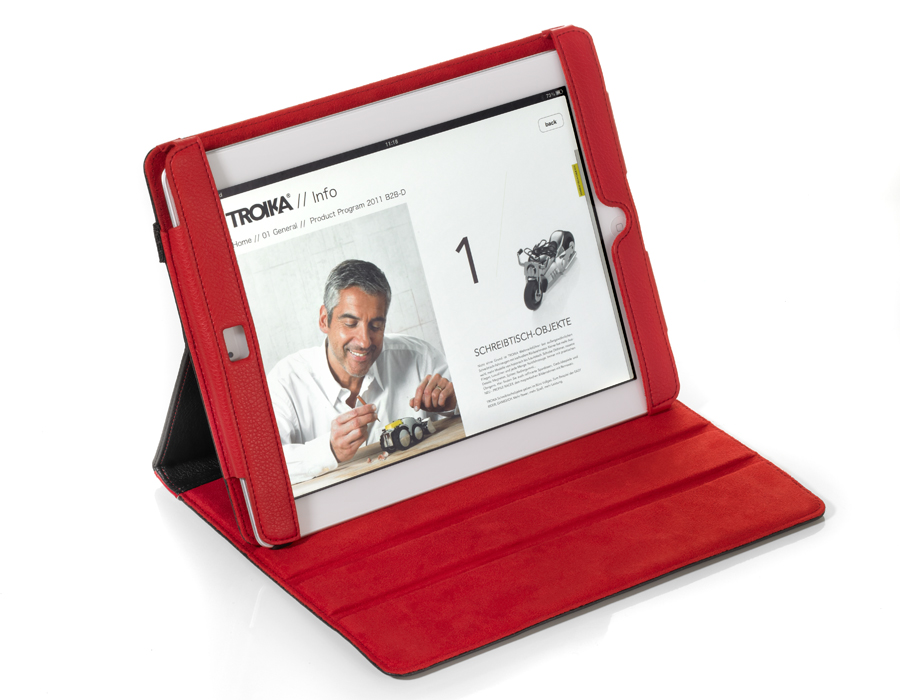 Troika iPad Case RED PEPPER